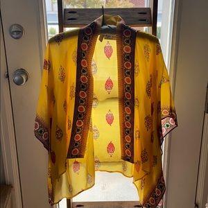 Anthropologie Rujuta Sheth Silk Kimono